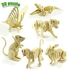 <b>Деревянные</b> игрушки динозавр животные трехмерная <b>модель</b> ...