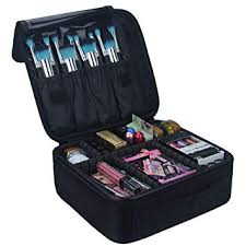Relavel Travel Makeup Train Case Makeup Cosmetic ... - Amazon.com