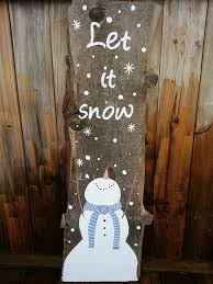 snowman painted on barn board let it snow made in utopia barn boards