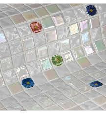 <b>Стеклянная мозаика Ezarri Topping</b> Flowers 31,3х49,5 см купить ...