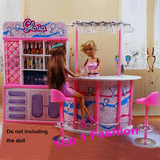 new arrival girl baby birthday gift play house doll for children fashion bar bjd furniture for barbie dollhouse furniture sets