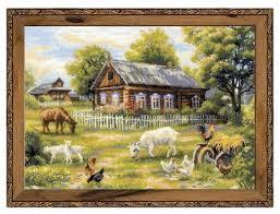 Купить Риолис <b>Набор для вышивания</b> крестом Деревенский ...