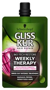 Schwarzkopf Gliss Kur Bio Tech Restore Weekly Therapy Rinse Out ...