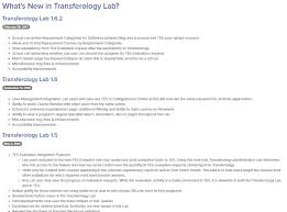 transferology lab basics transferology support center of release notes for the lab to learn about new features and functionalities versions are listed by reverse chronological order of release date