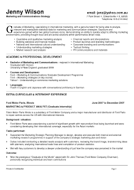 marketing and communications resume new grad entry level marketing and communications resume