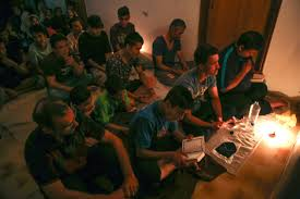 photo essay gateway to europe migrants pray celebrating the islamic holiday laylat al qadr at the hotel captain elias in kos on 5 2015 laylat al qadar is celebrated