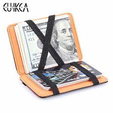 <b>CUIKCA Unisex Magic Wallet</b> Magic Money Clip Slim Long Wallet ...