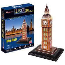 Купить 3D пазл <b>Cubicfun Биг бен</b> с иллюминацией ...