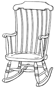 drawings of chairs colouring pages clipart