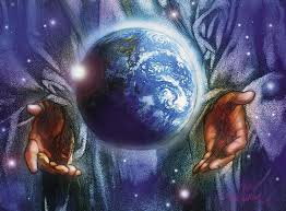 Image result for picture of god holding the world in his hands