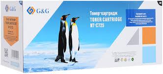 Тонер-<b>картридж G&G NT</b>-C725, черный, для лазерного принтера ...