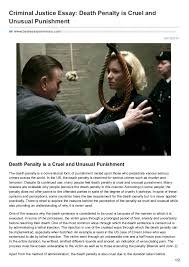 is the death penalty cruel and unusual punishment essays  www  bestessayservices com criminal justice essay death penalty is cruel criminal justice essay death penalty is