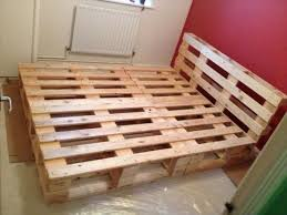 recycled pallet bed frame more bedroomeasy eye upcycled pallet furniture ideas