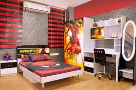 f very attractive decorating ideas for kids boy bedrooms with spiderman themes bedroom furniture set and cool black mixed red painting walls combination bedroom black bedroom furniture sets cool