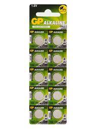 Алкалиновые дисковые <b>батарейки</b> 186A <b>10</b> шт. GP 6914415 в ...