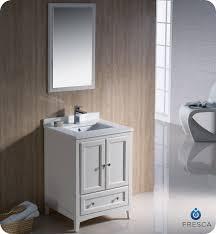 traditional style antique white bathroom:  fresca oxford  traditional bathroom vanity