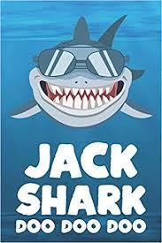 Jack - Shark Doo Doo Doo: Blank Ruled <b>Personalized</b> ...
