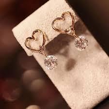 Heartshape zircon earing | Shopee Malaysia