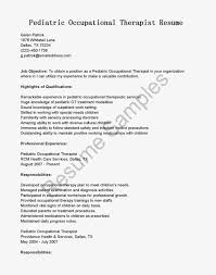 resume ot myperfectresume occupational therapy cover letter