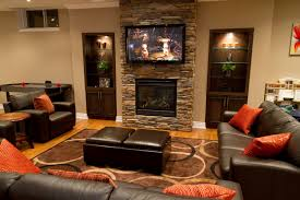 furniture fireplace designs with tv above stone mounted living room placement on brick walls brown s brick living room furniture