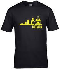 <b>Evolution lego batman T</b> Shirt adults mens super hero caped ...