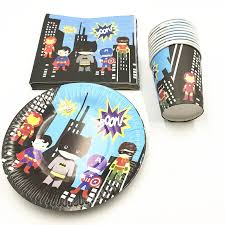 <b>60pcs</b>/<b>lot</b> Superhero disposable party set avengers birthday party ...