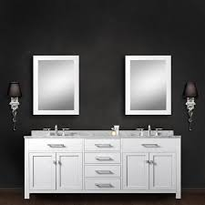 bathroom sink pak water creation madison wc  inch solid white double sink bathroom vanit