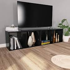 vidaXL <b>Book Cabinet</b>/<b>TV Cabinet</b> with 4 Compartments Living Room ...