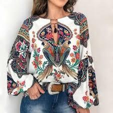 CALOFE <b>2019 Women Bohemian</b> Clothing Plus Size Blouse Shirt ...