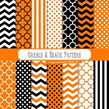 Buy 2 Get 1 Free! Digital Paper Orange & Black <b>Pattern</b>, <b>halloween</b> ...
