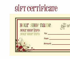 christmas gift certificate templates word certificate christmas gift certificate templates word