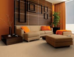 small living room includes brown