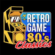 <b>Retro Game 80s Classics</b> Old Game Machine Stock Illustration ...