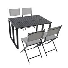 Hampton Bay Ocean Springs <b>5</b>-<b>Piece Folding</b> Patio Dining Set | The ...