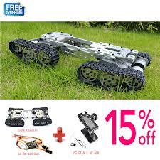 WZY569 Intelligence RC <b>Tank</b> Car Truck Robot chassis 393mm ...