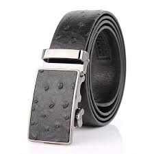 Brands <b>Genuine leather</b> Belt for men <b>Vintage</b> Buckle <b>ostrich</b> Grain ...