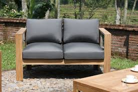 wood patio set ando a better look at the fabric and wood of the ando teak outdoor furnitur