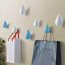 honana bs-439 creative water droplets <b>hook solid wooden</b> coat cap ...