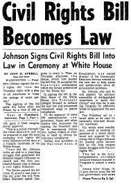 「the civil rights act of 1964」の画像検索結果