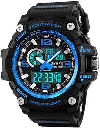 Mens <b>Sports</b> Watch, 5 ATM Waterproof Digital <b>Military Watches</b> with ...