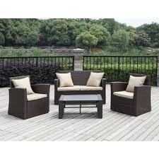 brown wicker outdoor furniture dresses: portfolio aldrich brown  piece indoor outdoor resin wicker set