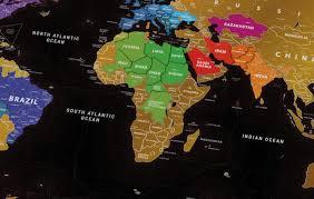 Черная скретч-карта мира Travel Map Black