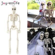 40cm <b>Halloween</b> Funny Lifelike Plastic <b>Skeleton Pumpkin Skeleton</b> ...
