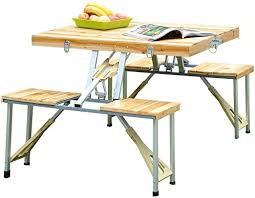 Outsunny <b>Portable Folding Camping</b> Picnic Table Party Field ...