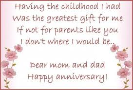 Anniversary Wishes, Quotes, and Poems for Parents | Wedding ... via Relatably.com