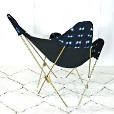 <b>Indigo</b> Mudcloth <b>Butterfly Chair</b> / African Bogolanfini Navy <b>Blue</b> ...