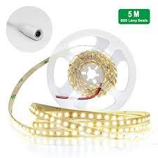 JIRVY <b>5M LED</b> Strip Lights <b>600 LED</b> SMD 2835 <b>DC 12V</b> Low ...