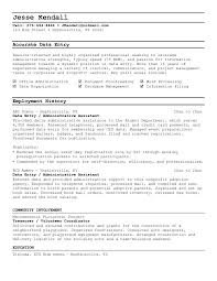 entry resume objective examples  data  seangarrette coentry resume objective examples  data