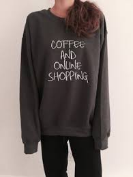 <b>Books and coffee sweatshirt</b> jumper cool fashion gift girls sizing ...