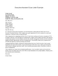 cover letters for executive assistants template cover letters for executive assistants